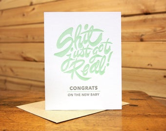 SJGR! Congrats on the new baby. Card