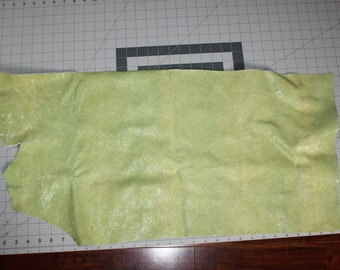 "Leather Hide - Green Stingray Embossed Leather - Between 3 or 4 oz - 32"" x 16""- Leather Theory"