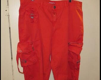 "Vintage RED GOTH PANTS Alternative Emo Punk Pants Size 36  ""Pov"" brand Vintage Goth Pants Punk Rock Pant by BrowseMyVintageShop"