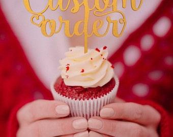 Wedding Cupcake Toppers - Custom Cupcake topper - wedding cupcake decorations  -  cupcake toppers