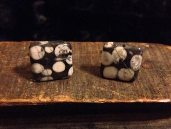 Handmade Fossil Stone Cufflinks