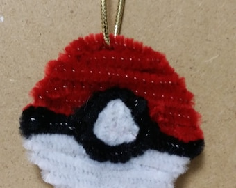 Pokemon pokeball holiday ornament