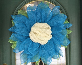 Flower Wreath for Front Door