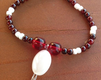 Red and White Solidarity Bracelet