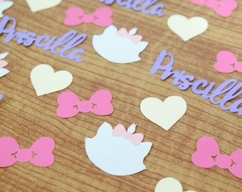 Marie Aristocats Confetti, Marie Cat, Party Confetti, Table Decor, Table Scatter, Birthday Party, Baby Shower, Cats, Party Decoration
