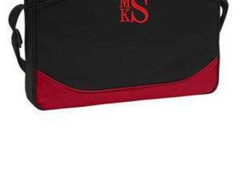 Laptop PC Computer Travel Case Personalized Monogramed - Stacked Monogram