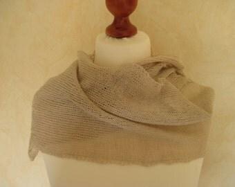 Lace shawl scarf Leinenschal linen Cape linen cloth Linen yarn trim of alluring nature