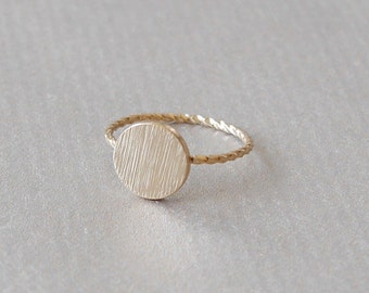 Gold-plated knuckle ring ankle ring golden ring stacking ring gold