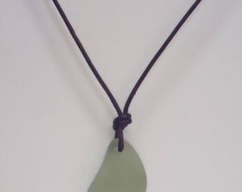 Surf Jewelry. Genuine Sea Glass Pendant Necklace. Unique Gift For Him or Her.