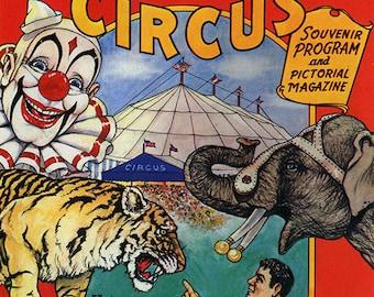 Clyde Beaty - Clyde Beaty Circus Poster - Clyde Beaty Wall Art - Circus Print - Circus Art - Circus Lover - 8x10 - 11x14 (JS00351)