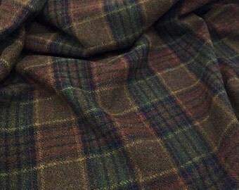 Lumberjack Plaid, 100% Felted Wool for Rug Hooking, Wool Applique and Crafts