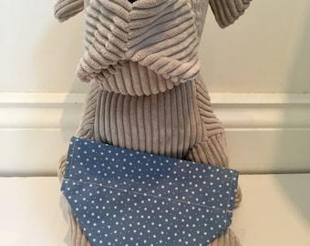 Dog Bandana, Blue mini stars, bandana for dogs.