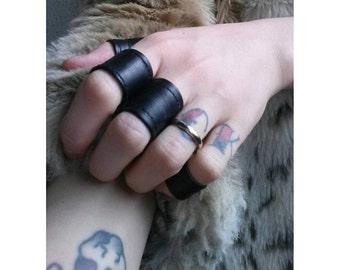 Bad Boyfriend vegan leather statement ring Samhain Halloween