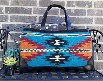 Barrel Tote, Southwestern Barrel, Hand Woven Tote, Zapotec Handbag, Southwest Handbag, Western Style Purse,  Gift for Her, Gift