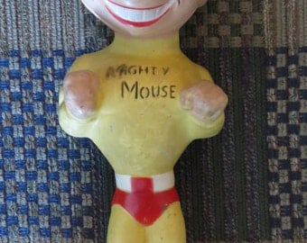 Vintage Mighty Mouse Rubber Doll