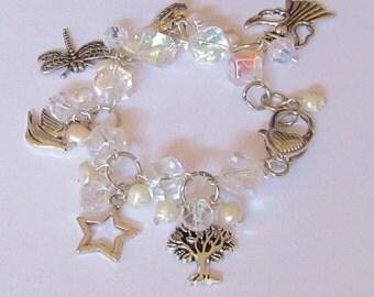 Gemstone Swarovski Pearl & Crystal Charm Bracelets
