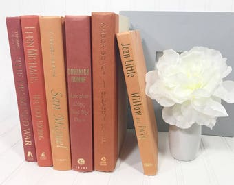 Orange Decorative Book Set