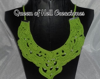 Fancy crochet with beads necklace