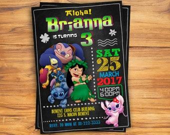 Lilo and Stitch Invitation, Lilo and Stitch Birthday, Lilo and Stitch Party, Lilo and Stitch Invitations, Personalized, JPG