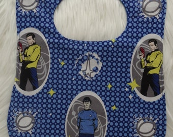 Star Trek Spock and Kirk feeding bib for babies and toddlers