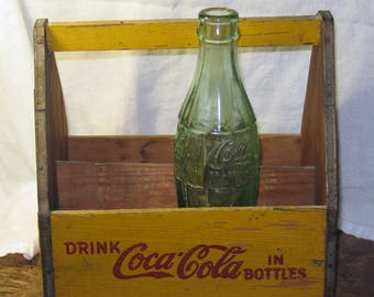 Old Wooden Coca-Cola Six Pack 6 Oz. Bottle Carrier