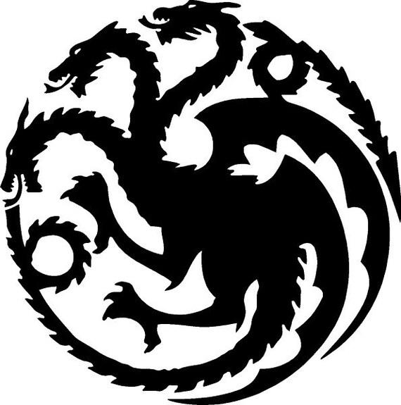 Vinyl Decal Sticker - House Targaryen Decal for Windows, Cars, Laptops, Macbook, Yeti, Coolers, Mugs etc