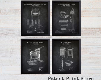 Laundry Room Patent Art Prints. Laundry Room Sign. Laundry Room Art. Patent Prints. Laundry Room Decor. Laundry Room Prints. 209