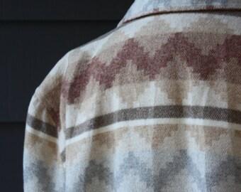 vintage | 1980s | southwestern motif | boyfriend blazer | jacket | Glensport | size 18