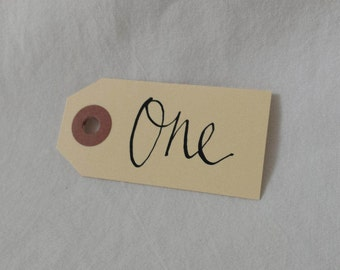 Table number Swing tags SMALL