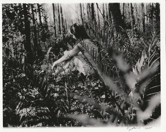Forest Landscape, Fine art photograph, black and white photography, female form, gelatin silver print, nature photography, ferns, wall art