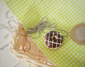 Donut Necklace Mini Donuts - Polymer Clay Food Jewelry Miniatures Charms - Funny Gifts