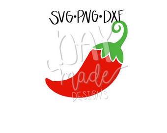 Chili Pepper SVG, Pepper SVG, Fiesta SVG