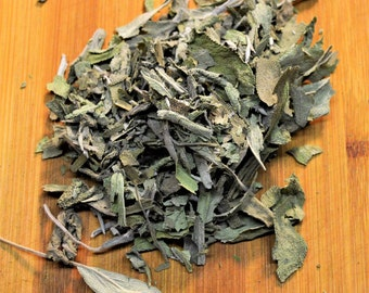 Dried Sage - Certified Organic, Sage, Culinary, Salvia officinalis, Specialty, Dried Herbs, All Natural, Gourmet, Flavorful,  Cooking