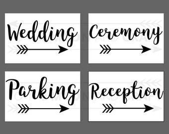 Custom Wedding Sign Vinyl Decals