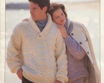 Cleckheaton Antarctica knitting pattern book 762 - mens and ladies jumpers and cardigans