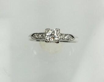 Vintage 1930's platinum diamond engagement ring .25ct