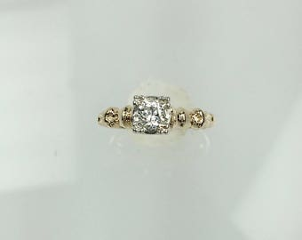 Vintage 1940's diamond engagement ring .18ct