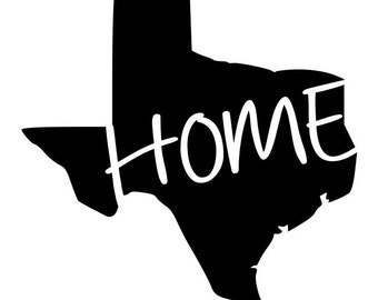 State of Texas TX HOME outline laptop cup decal SVG Digital Download Cuttable Files Cricut Silhouette