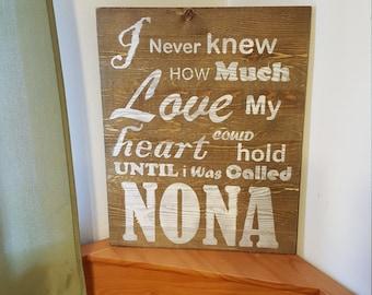 Perosnalized Barnwood Sign, Papa, Nona, Grandma, Aunt/Uncle, Godmother/Godfather etc