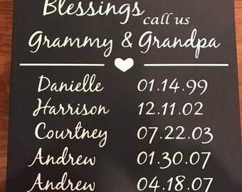 Grandparent Blessing Etsy