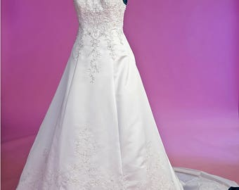 Lace and beaded wedding gown