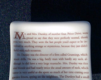 Harry Potter Opening Lines Dish (The Sorcerer's Stone)