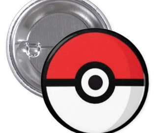 Pokeball PinBack Button & Magnet