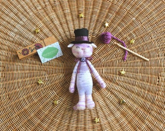 AristoChat shabby chic pink doll / A pink, shabby chic Aristocats'doll