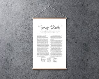 The Living Christ | Poster 24x36 | Digital Print | Instant Download | Inspirational | LDS