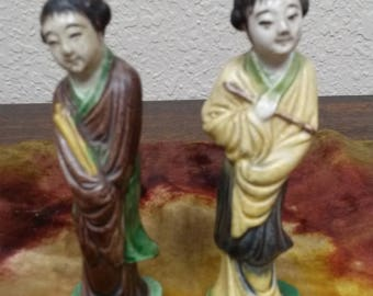 Pair of Chinese Lady Figurines
