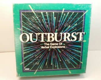 Outburst The Game of Verbal Explosions 1994 by Parker Brothers Vintage Trivia Game Complete