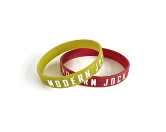 Modern Jock Silicon Bracelet - Gym Jewelry - Maroon Bracelet - Olive Bracelet - Men's Jewelry - Gifts For Him by Modern Jock