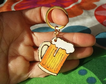 Wooden Keychain for beer lovers