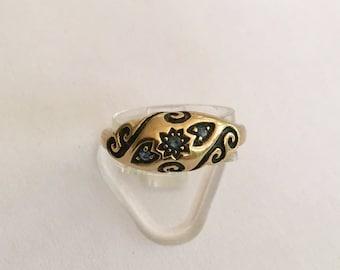 9ct Sapphire Vintage Ring